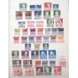 Stamps : GERMANY Blue Stockbook with Good Bundesp