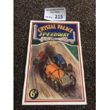 Car Speedway : Crystal Palace Car v Wimbledon & We