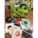 "Records : 7"" singles bag of singles 45's - 200+ in"