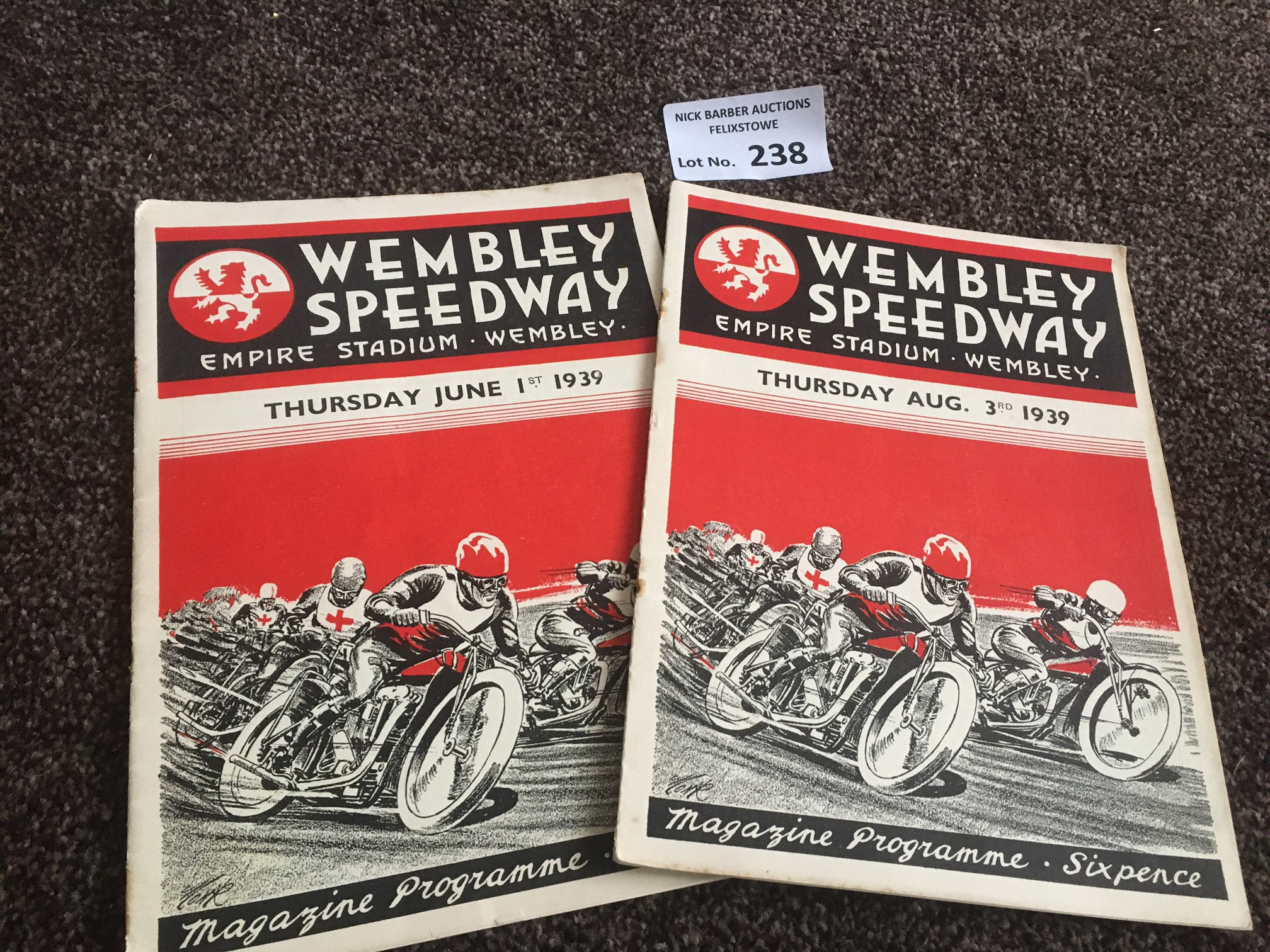 Speedway : Wembley (2) v Belle Vue 01/06/1939 v So