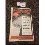 Speedway : Hackney Wick v Wimbledon prog 02/09/193