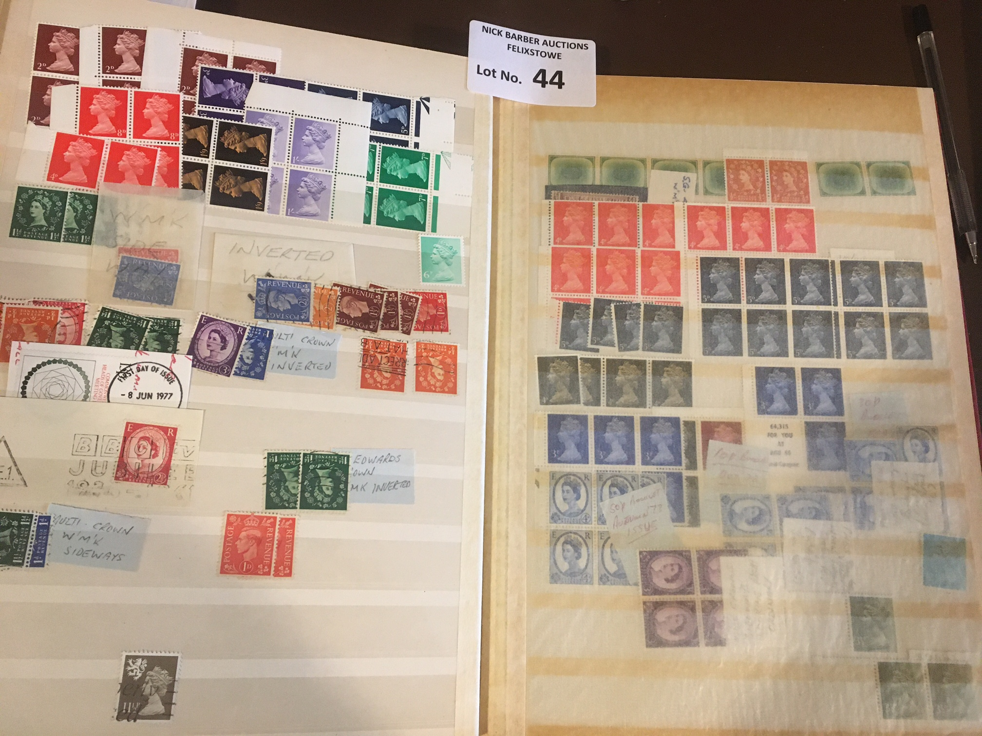 Stamps : GB stockbook of definitives/machins varia - Image 4 of 4