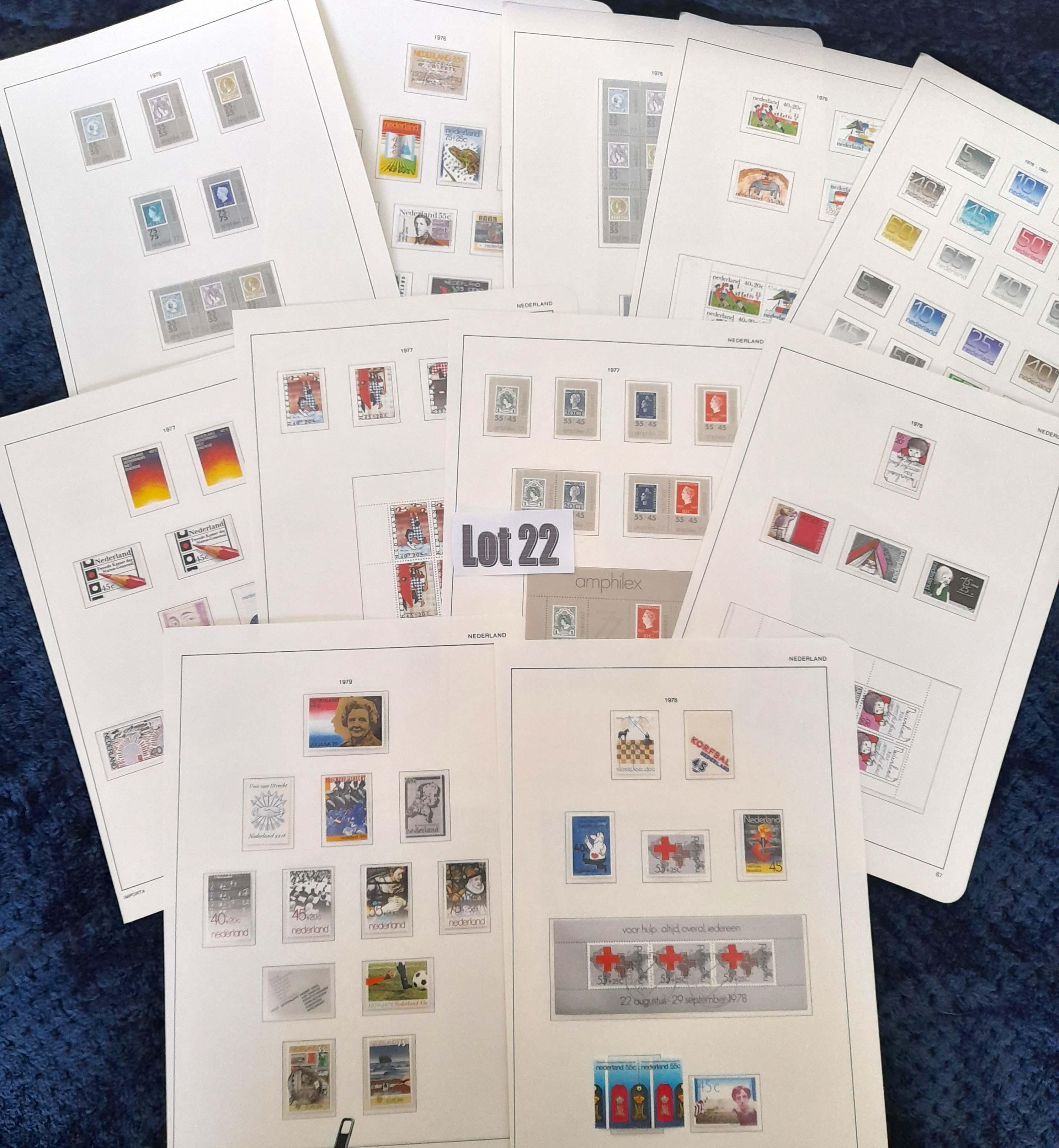 Stamps : NETHERLANDS Range of Issues MNH/UMM 1976