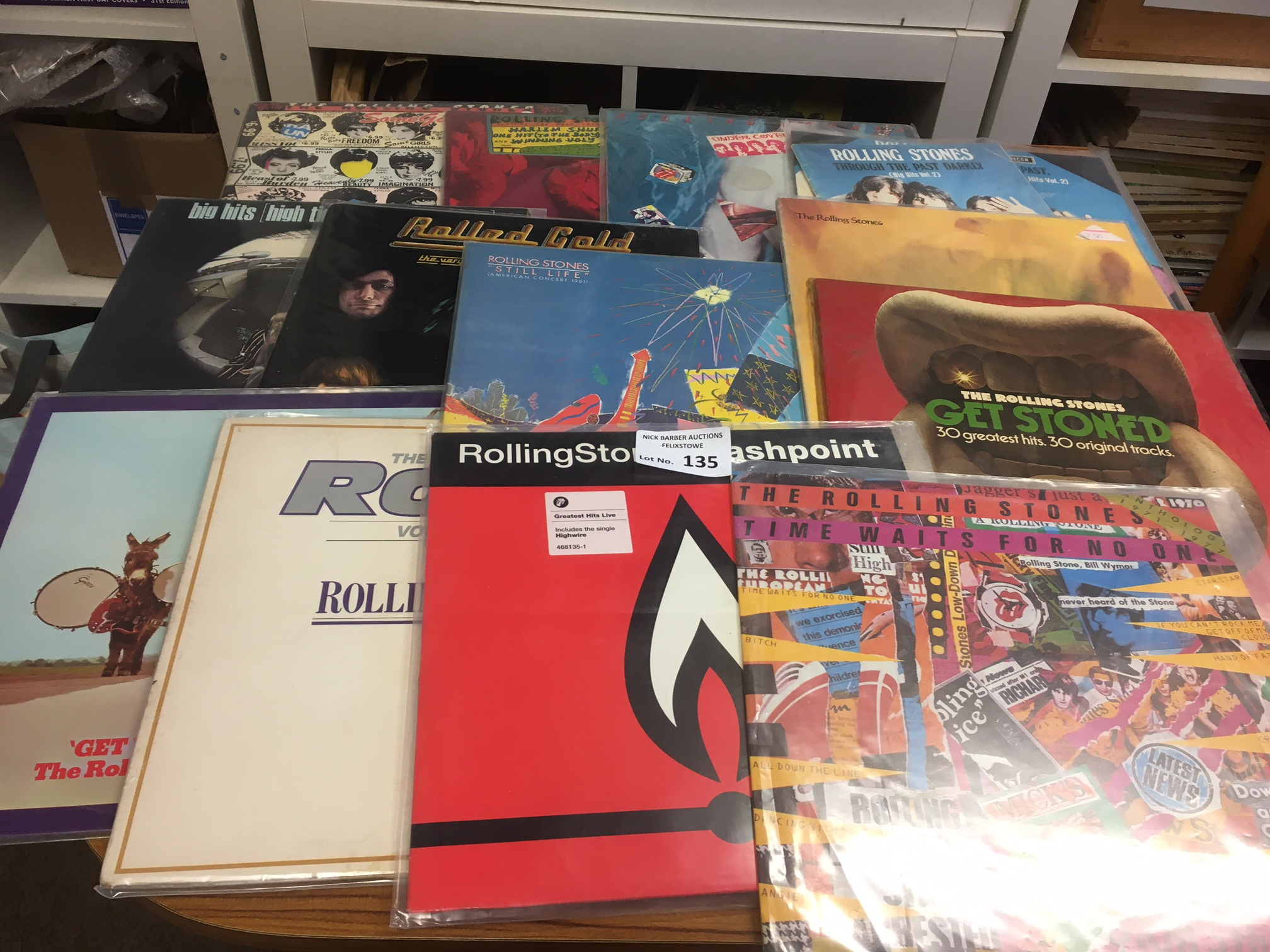 Records : ROLLING STONES collection of albums - al