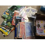 Football : Small box of mostly european UK home ti