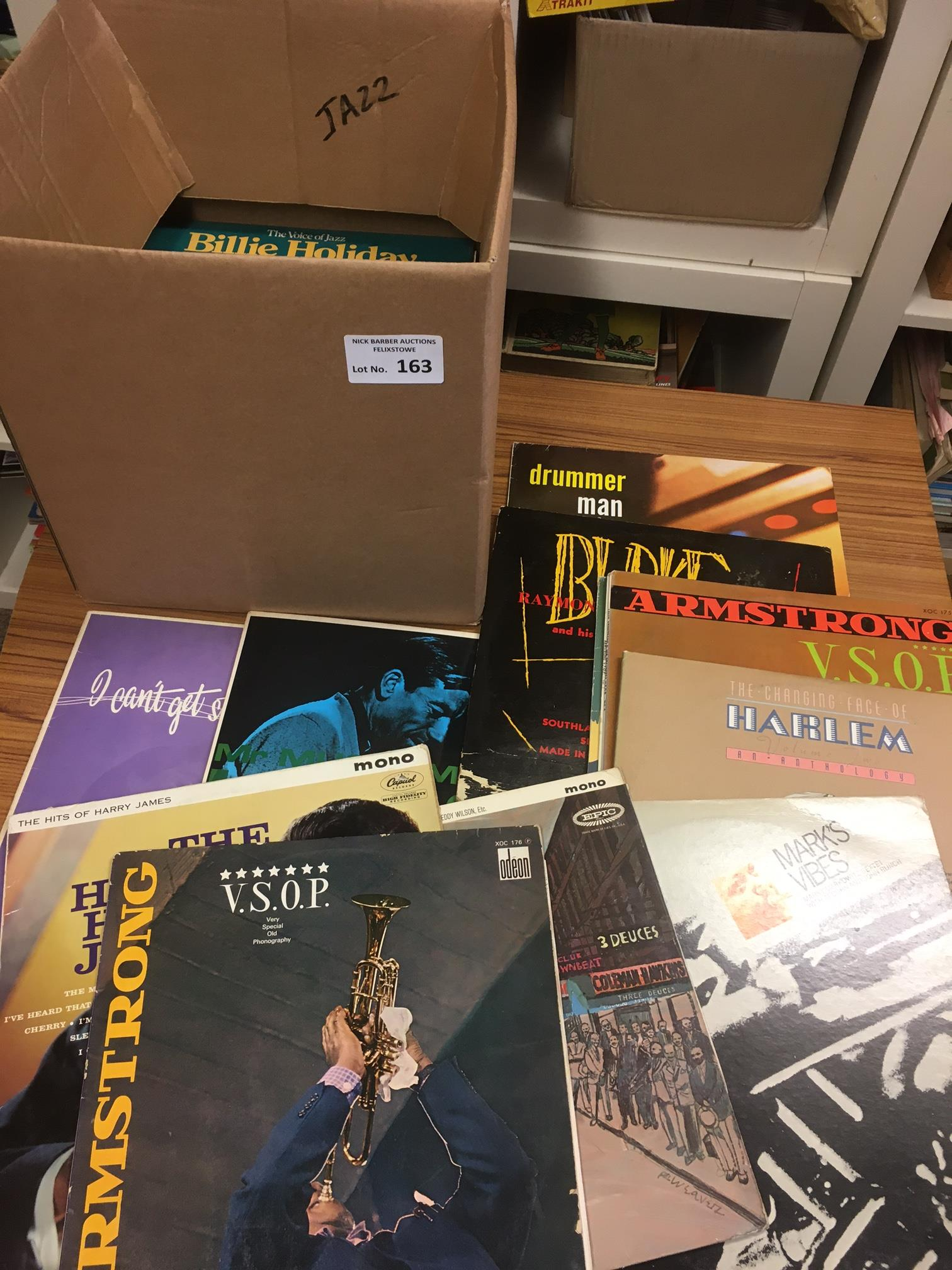 Records : Jazz - box of albums 40+ inc Krupa, Mark