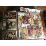 Postcards : Collection of approx 700 in 2 albums i