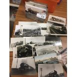Postcards : Railway photos/postcards - mainly RP's