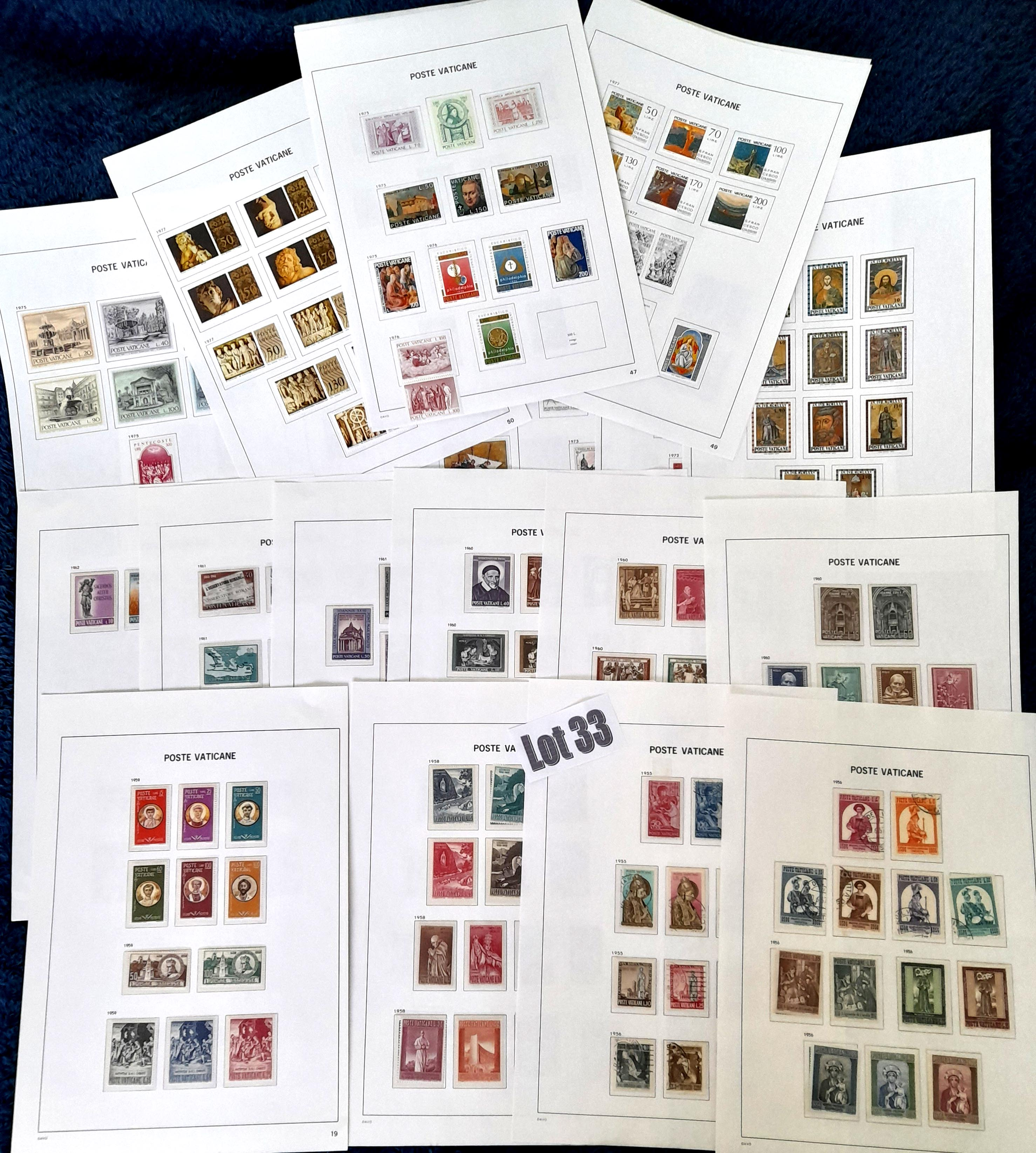 Stamps : VATICAN Sel on album pages MH, MNH & FU.