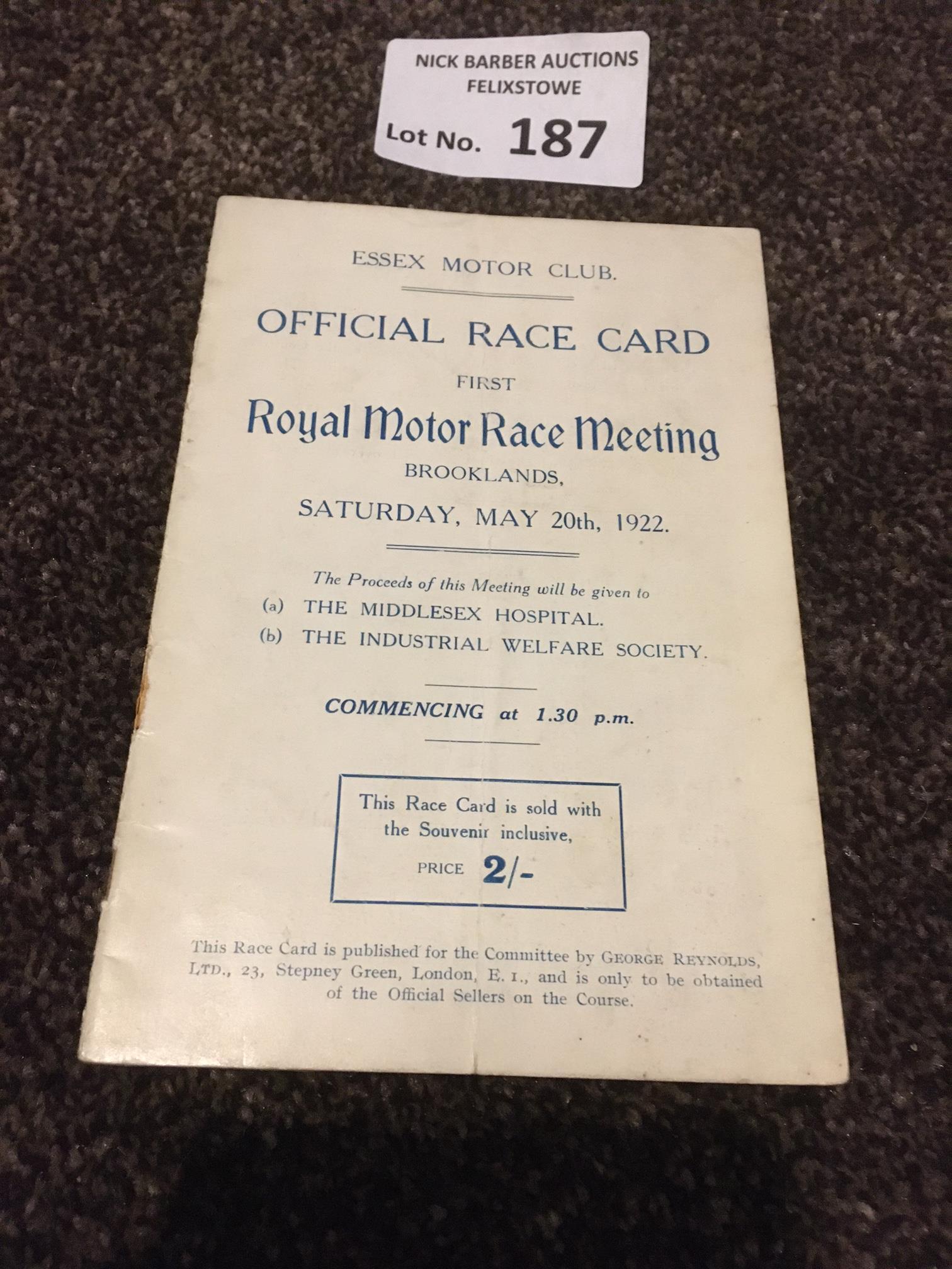 Motor Racing : Brooklands- The 1st Royal motor rac