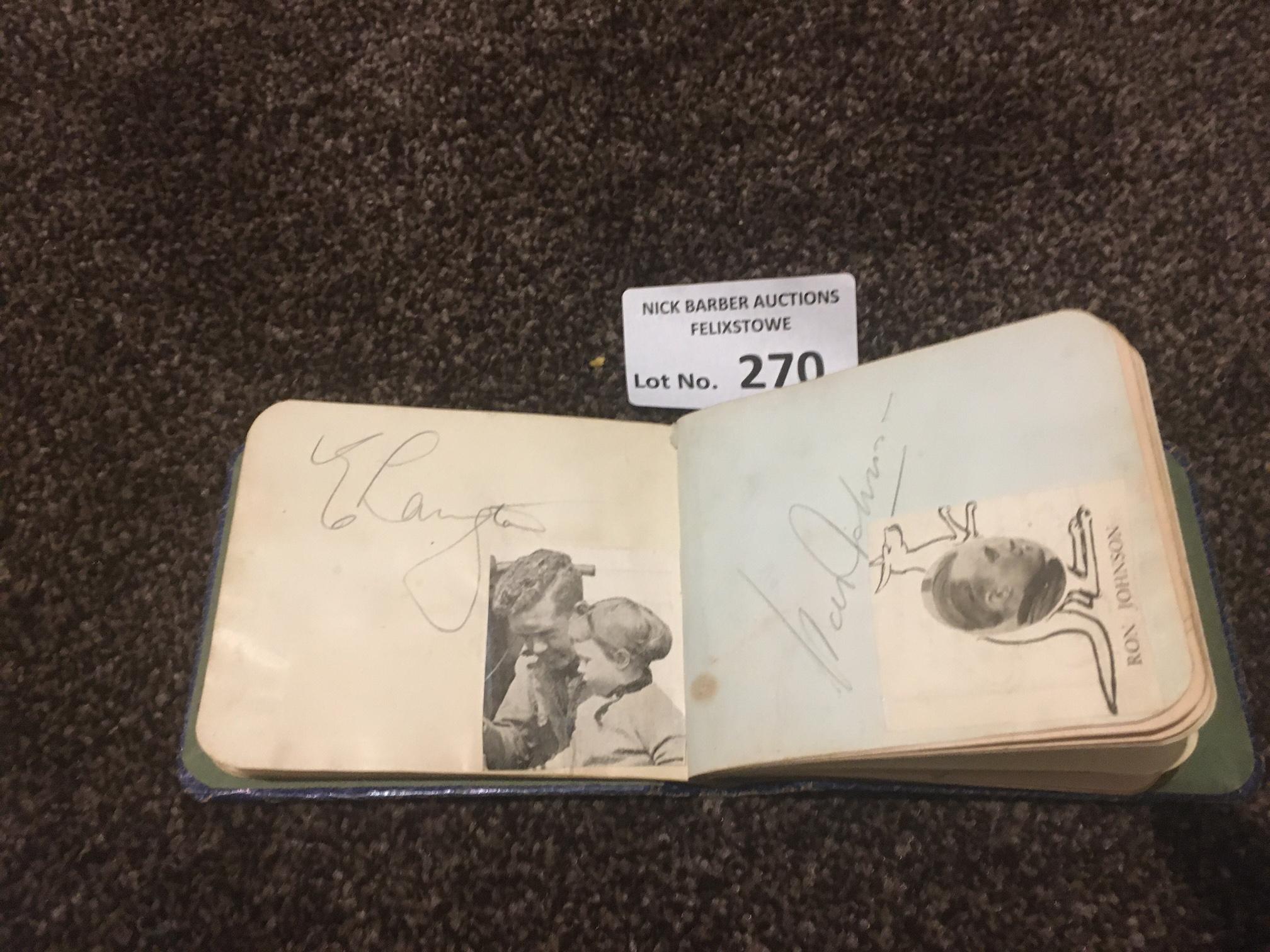 Speedway : Autograph Book 1930's inc Van Prang. Fr - Image 2 of 3