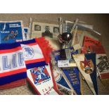 Speedway : Box of various items inc pennants, auto