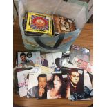 "Records : 7"" singles big bag of mostly picture sle"