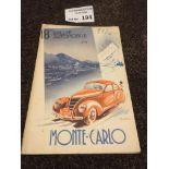 Motor Racing : 18th Automobile Rally - Monte Carlo
