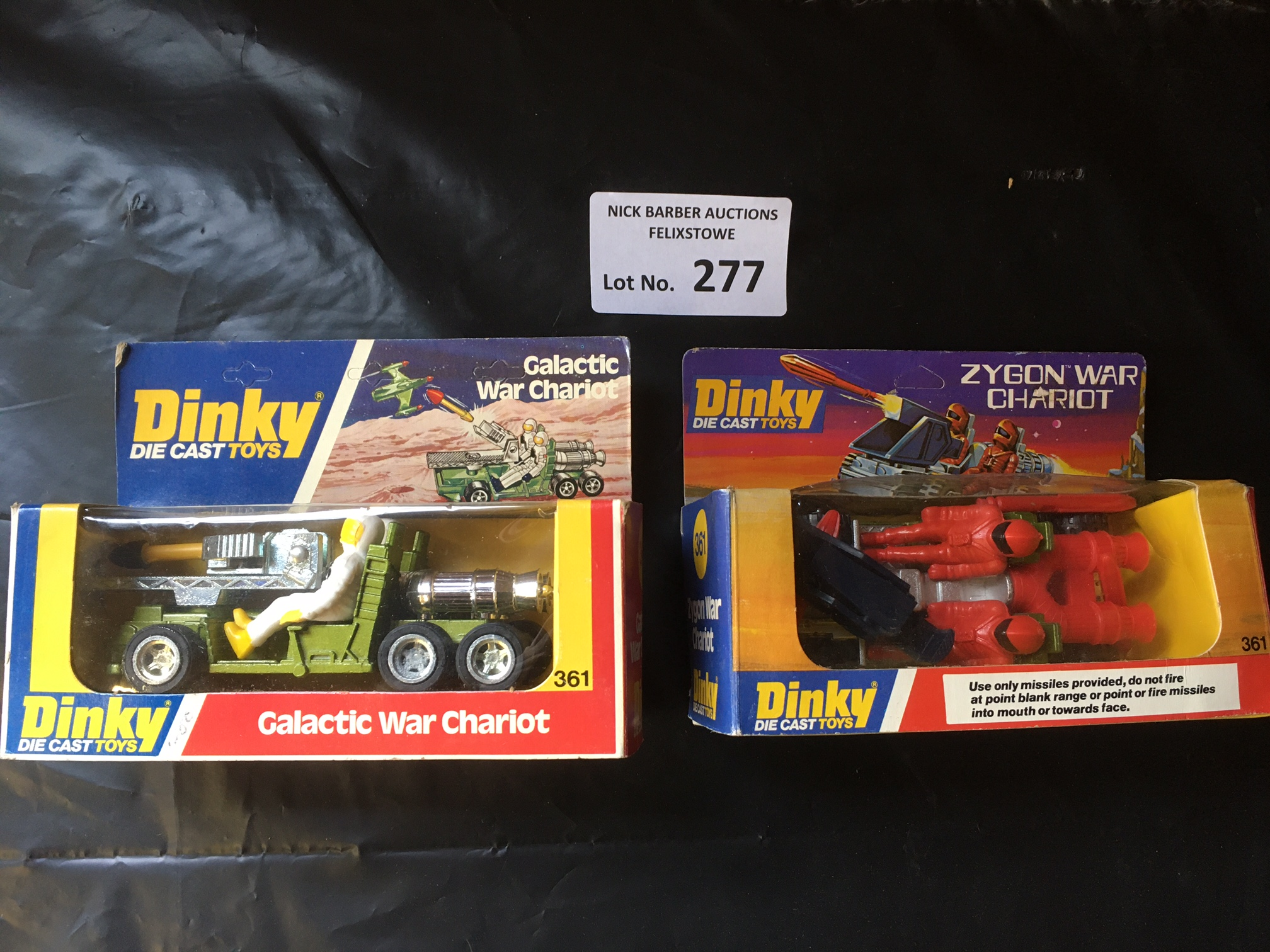 Diecast : Dinky 361 Galactic Chariot & 361 Zygon C