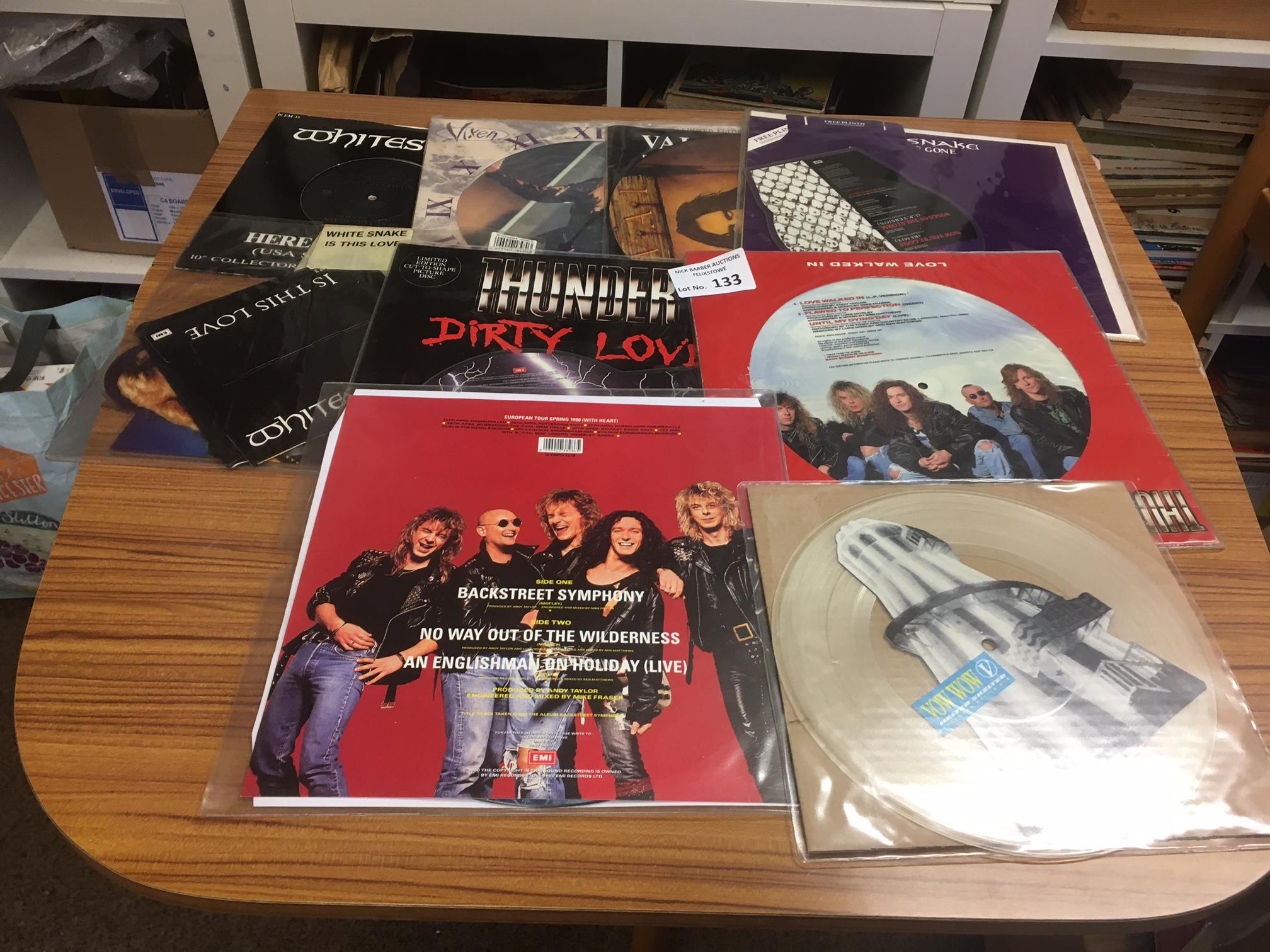Records : Heavy Metal picture discs inc Whitesnake