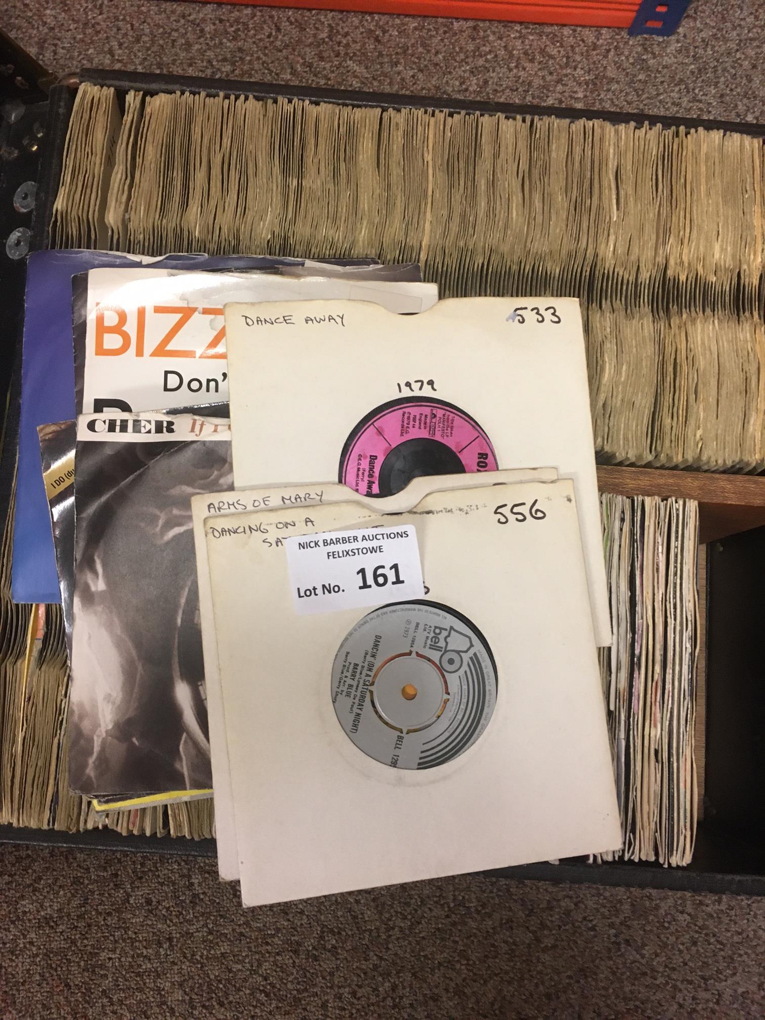 Records : Case of 45's singles - mixed Pop/Rock/Di