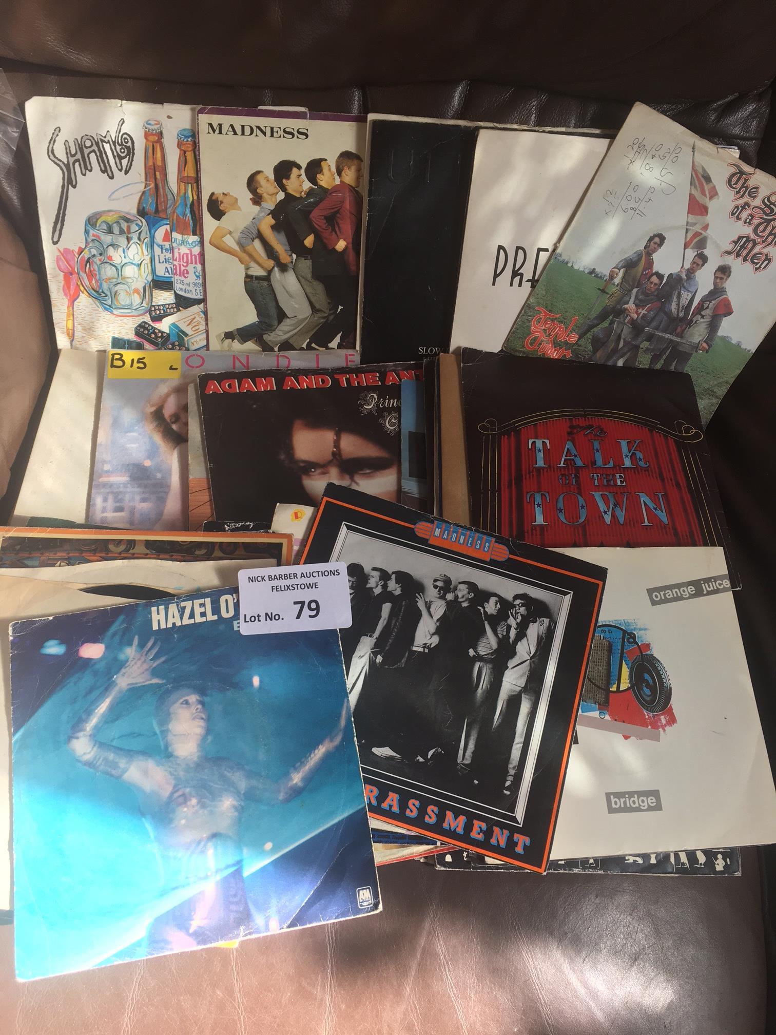 "Records : 46 Punk & New Wave 7"" singles - good mix"