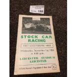 Stock Car : Leicester 1st event - race meeting pro