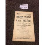 Speedway : Dagenham v Reading programme 20/09/1936