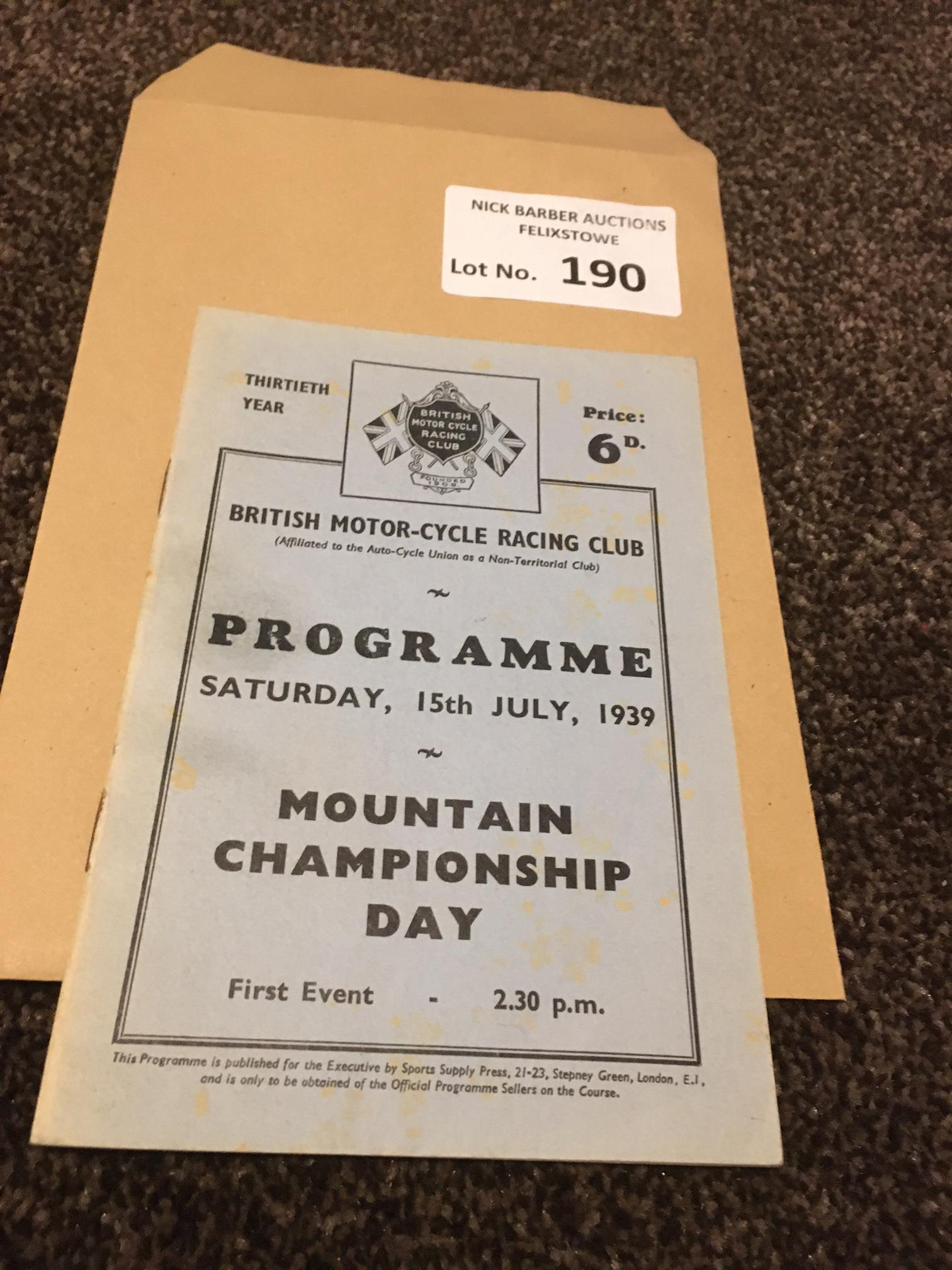 Motor Cycling : Brooklands - Mountain Champs Day p