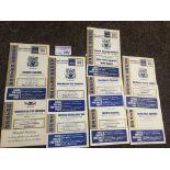 Football : Leeds Utd reserve progs 1958/68 homes x