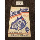 Speedway : Sheffield v Birmingham prog 19/05/1938