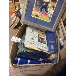 Football : Box of Ipswich Town memorabilia progs,