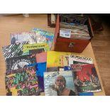 Records : 65 Punk 45's in a case inc Sex Pistols.