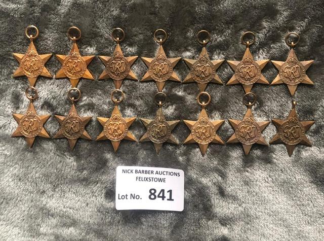 Militaria : 14x 1939-45 stars