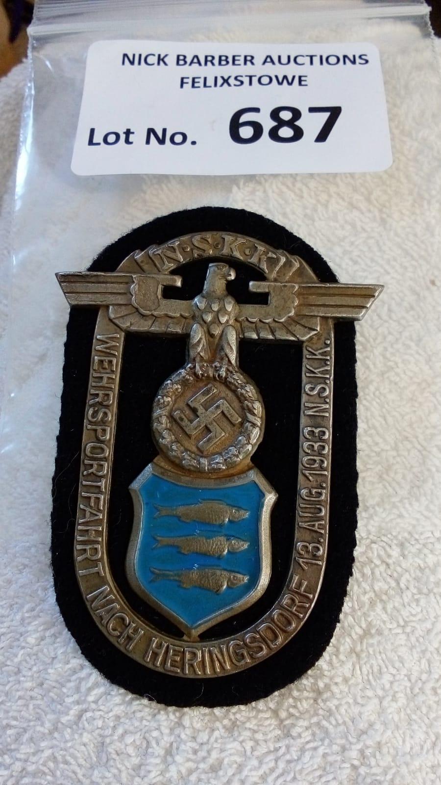 Militaria : German NSKK breast badge, service wear