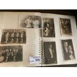 Postcards : Album of Music Hall/Performers cards -
