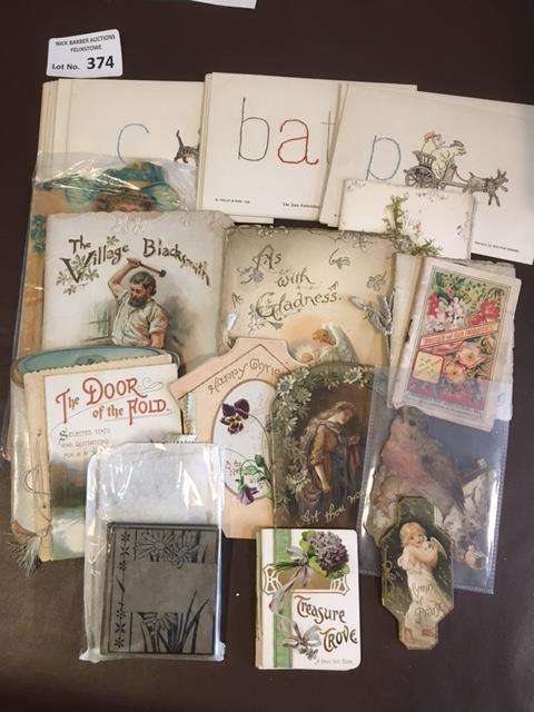 Postcards : 17 Victorian/Edwardian booklets - many