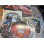 """Records : 13 12"""" picture discs a few shaped - all"""