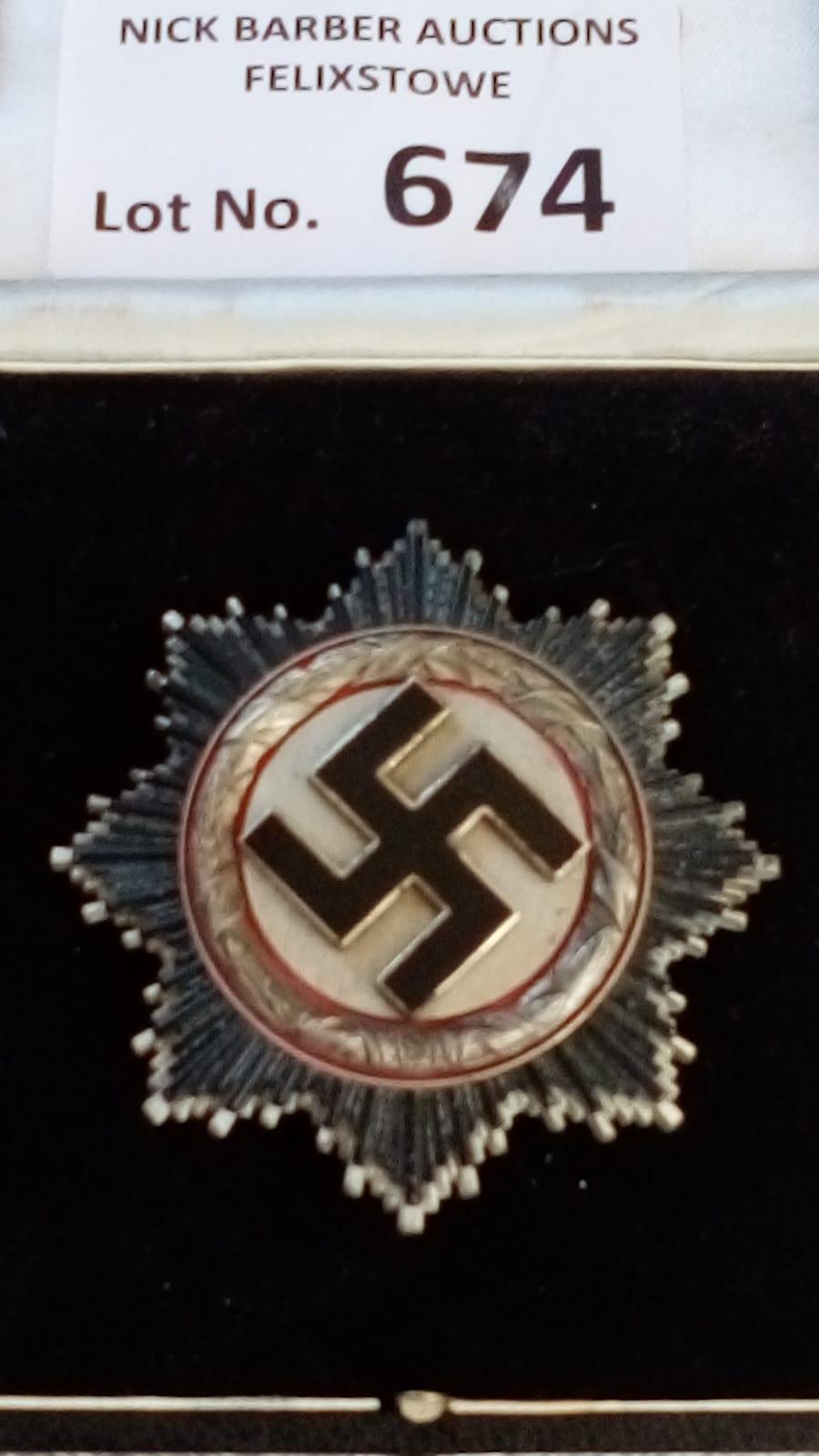 Militaria : German Deutches Kreuz in silver, maker