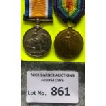 Militaria : WWI Pair of medals to Sgt H H Green R.
