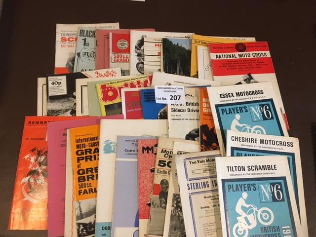 Scramble/Motocross : Collection of programmes 1960