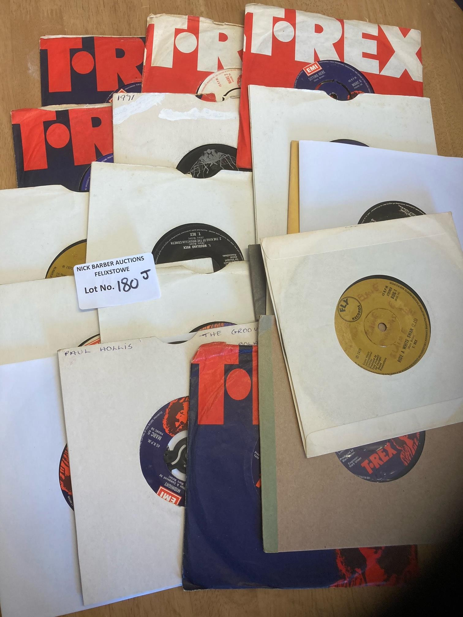 Records : T REX singles collection x19 some in TRe