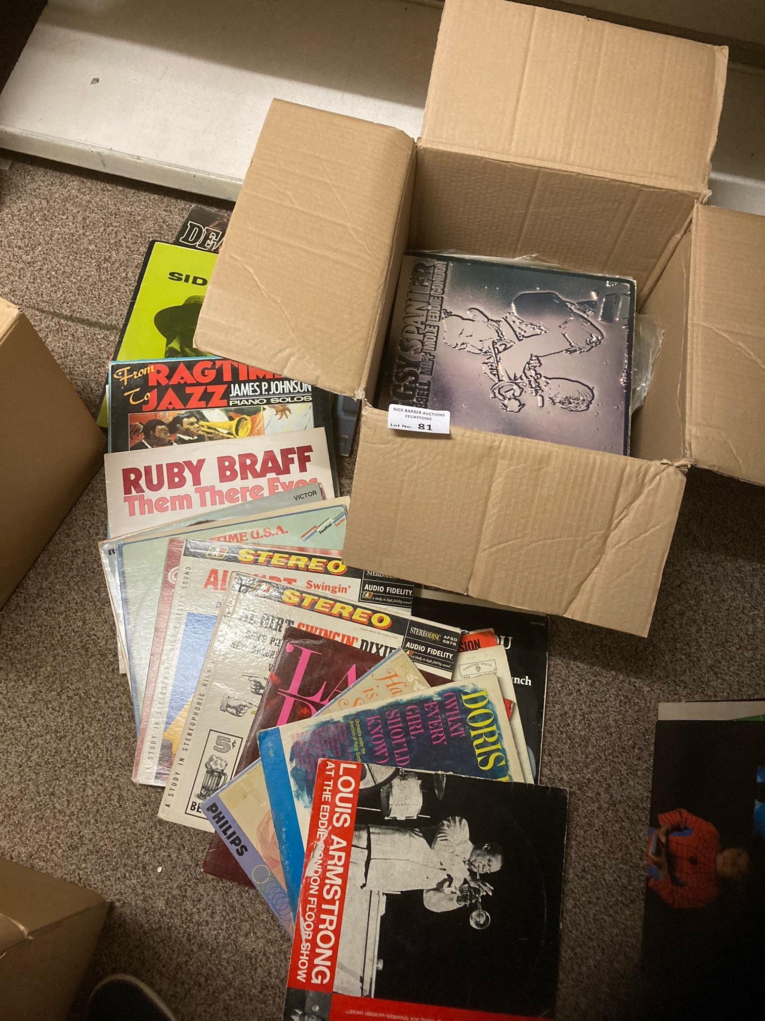 Records : Jazz - heavy box of 80+ albums inc Braff