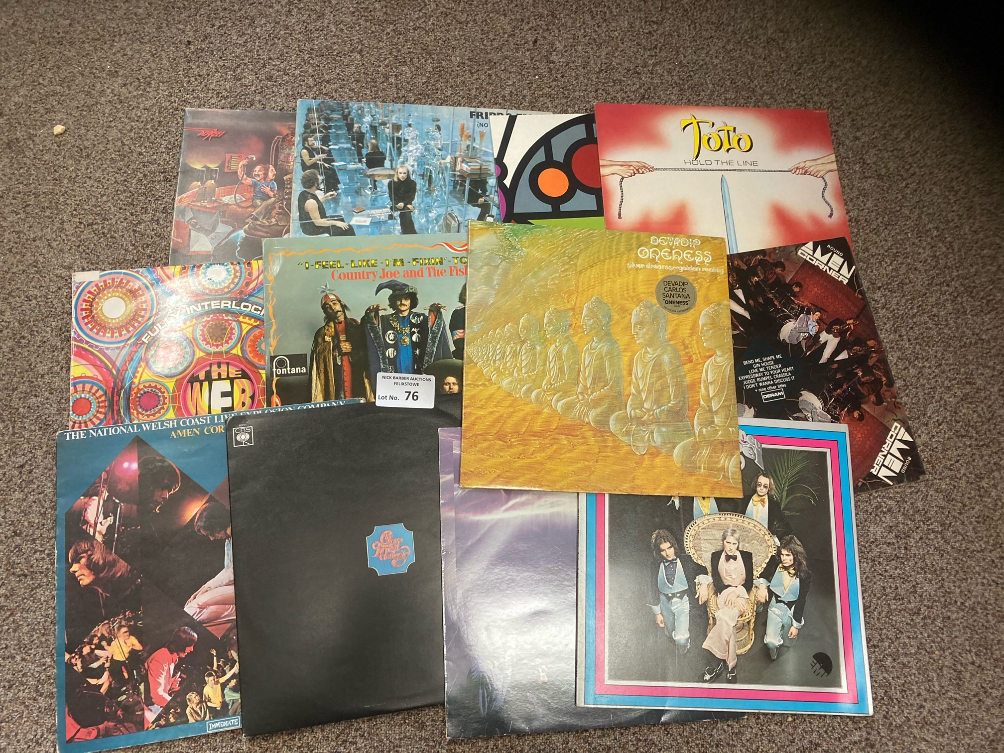 Records : Prog/Rock - great collection of (12) ori