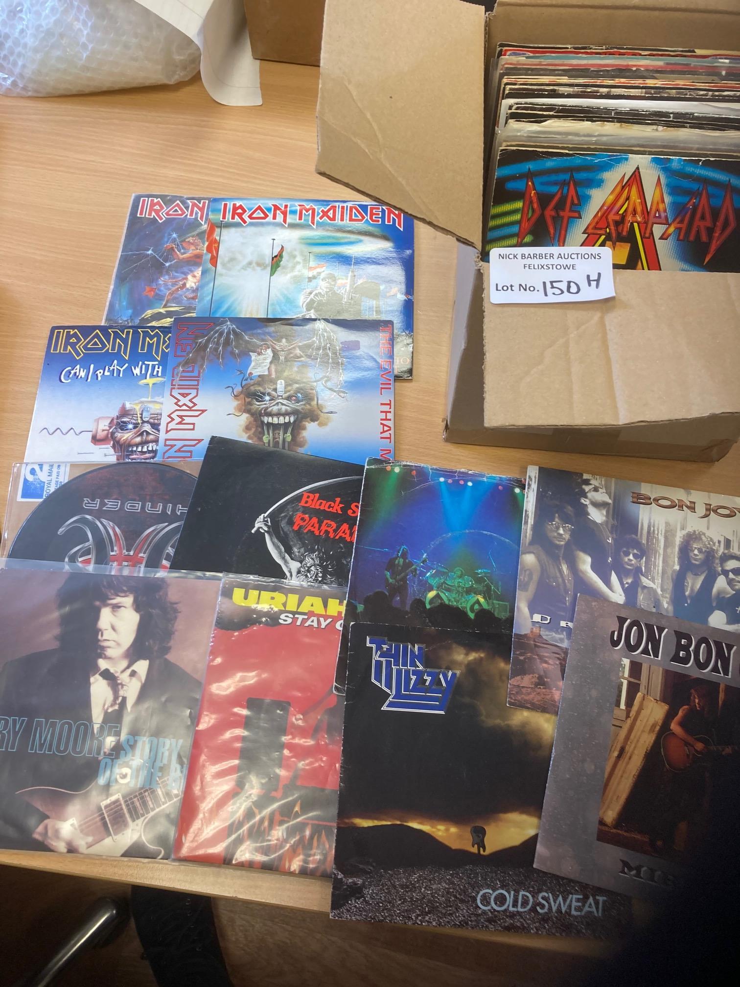 Records : 50 Heavy Metal/Rock 45's inc Iron Maide
