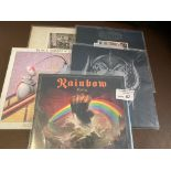 Records : 5 great condition Classic Rock LP's inc