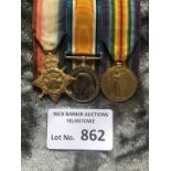Militaria : WWI Trio of medals to Dvr A J Brown AS
