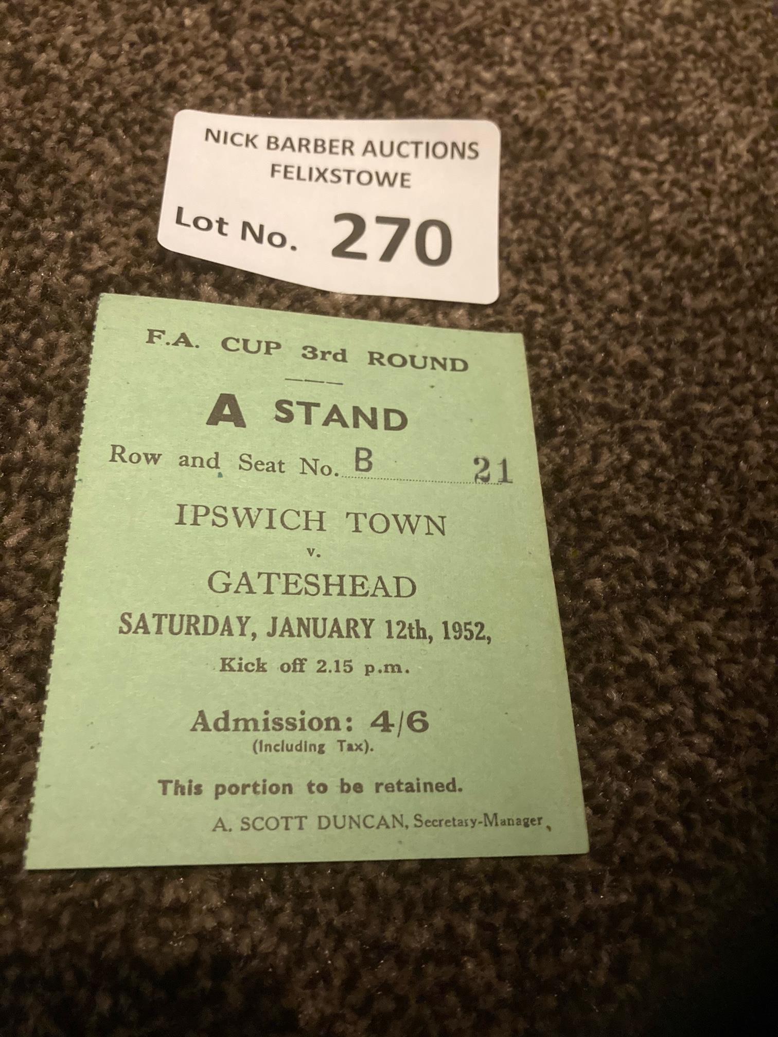 Football : Ipswich Town v Gateshead FA Cup 3rd rou