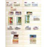 Stamps : AUSTRALIA Red S/B cntg. Sets, singles, M