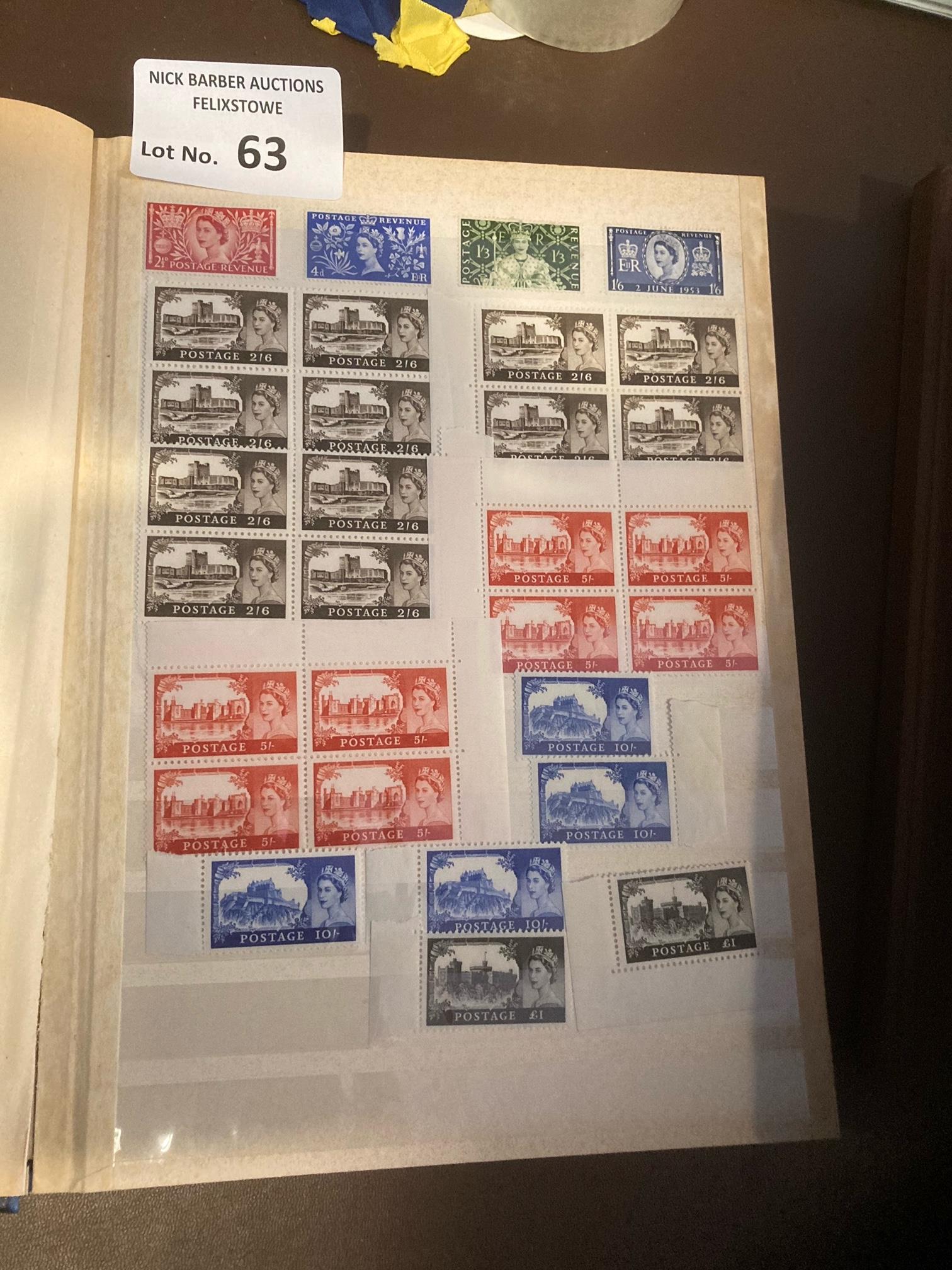 Stamps : GB 4 albums mostly mint QV-QEII many bloc