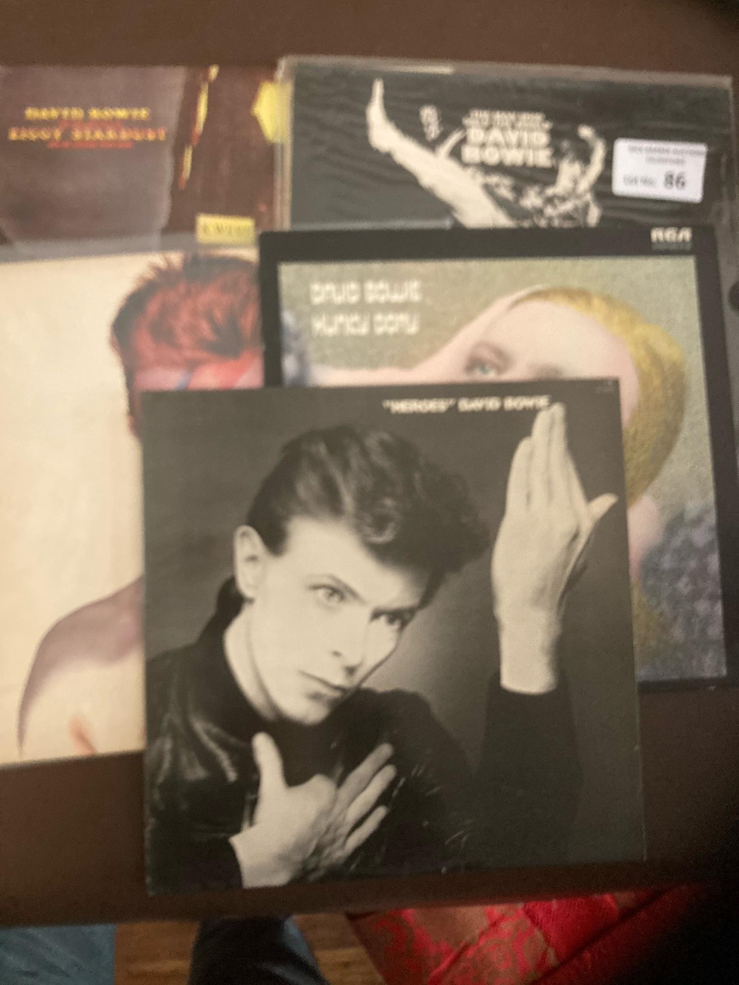 Records : DAVID BOWIE 5 great condition LP's - bar