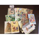 Postcards : 66 anthropomorphic animals cards - fin