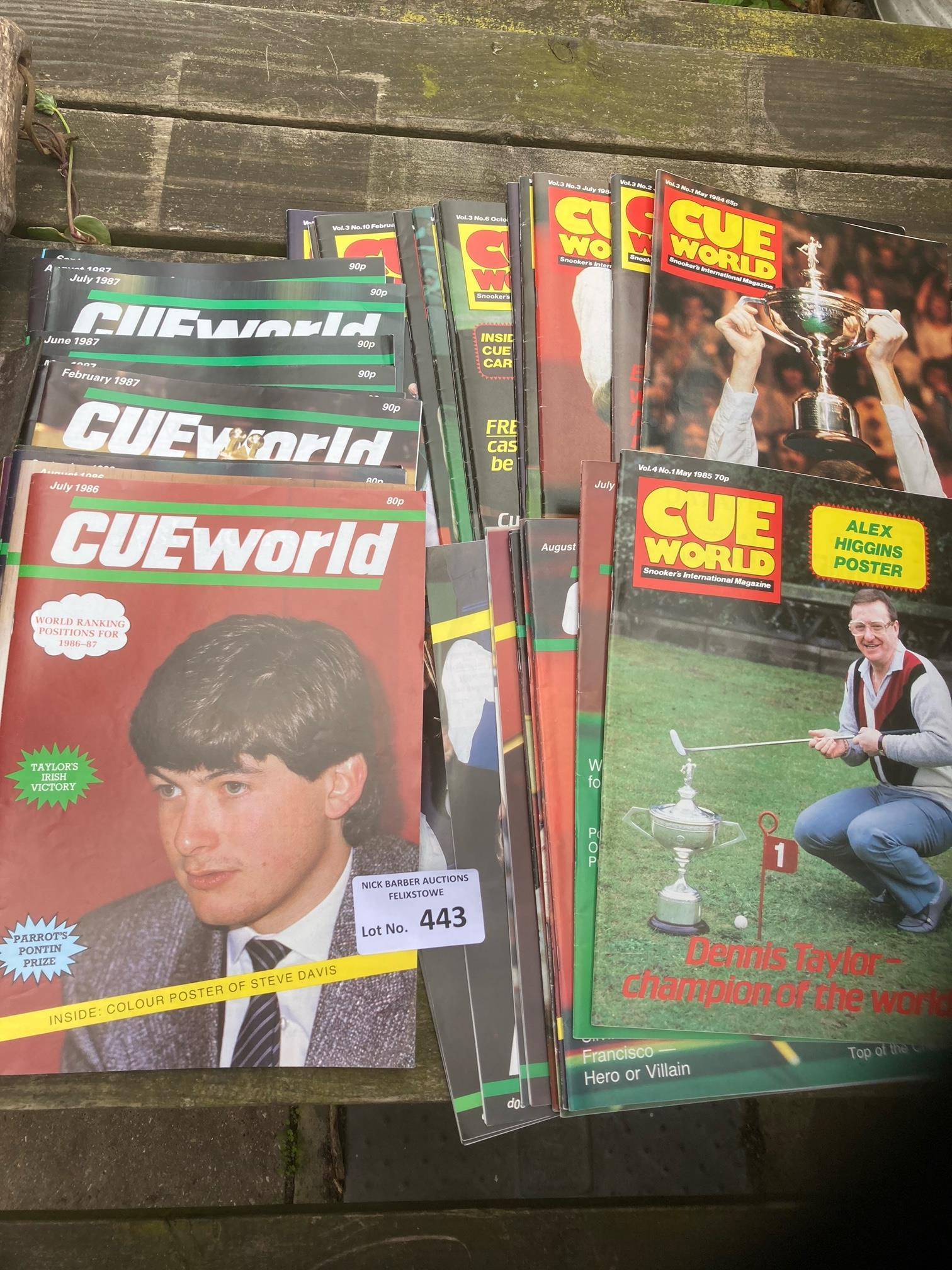 Magazines : Snooker Cue World glossy magazine 1980