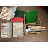 Stamps : 11 albums & stockbooks - box of Commonwea